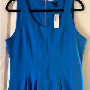 J. Crew Dresses - J Crew Blue Pleated Flare Dress NWT